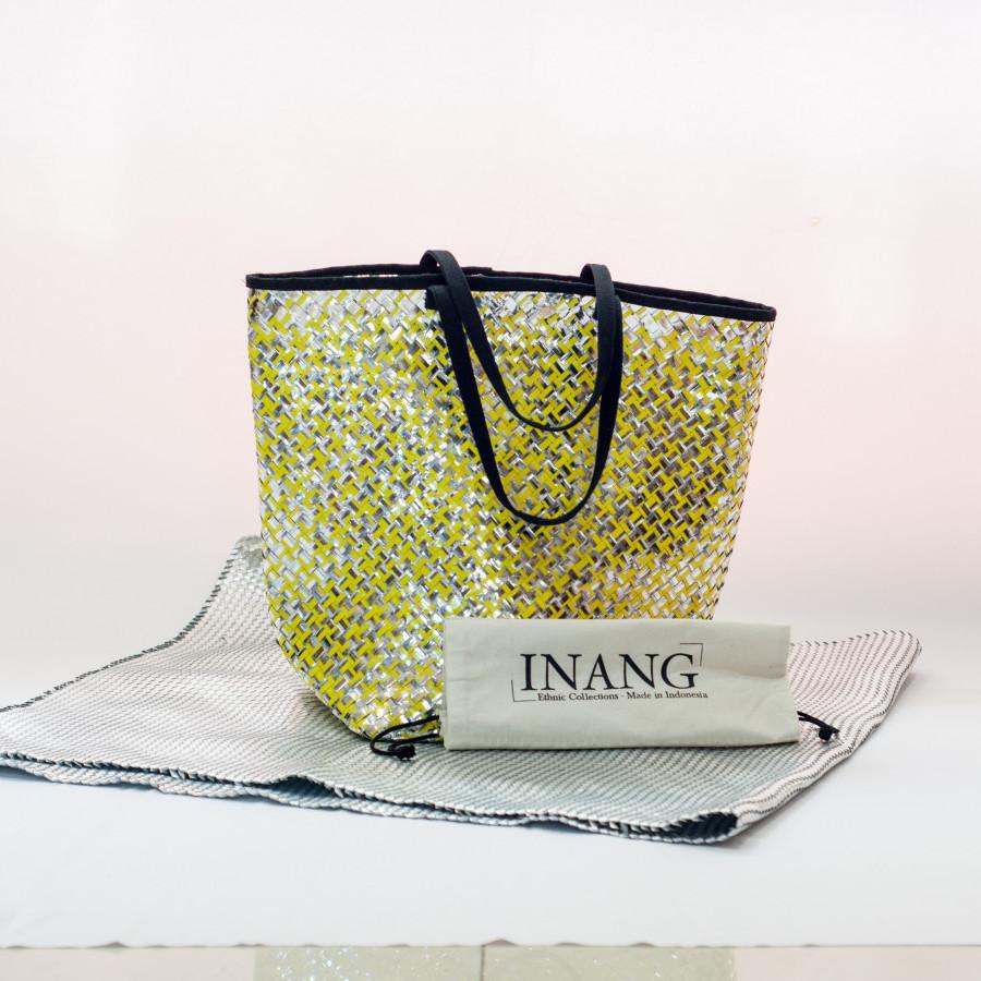 Tas daur ulang / recycle bag - Beach Bag (Yellow)