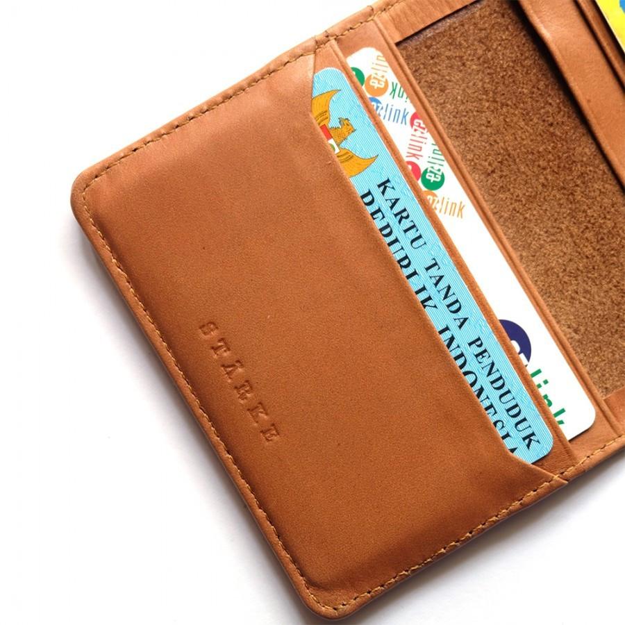 Dompet Kulit Asli Mini Wallet Urbane Pudu Tan