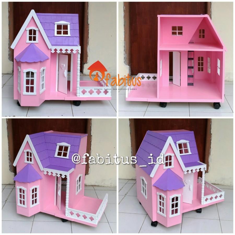Mainan Anak Rumah Barbie Villa Kecil Teras Dollhouse - Ku Ka 0c94916801