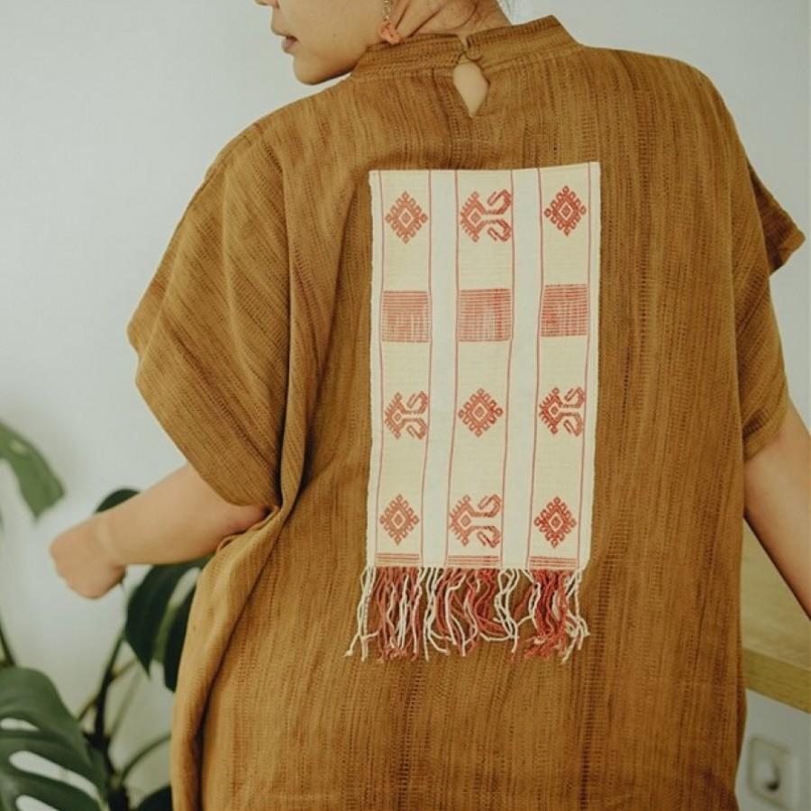 Tas Matras Yoga {Yoga Mat Bag} - Tenun Kalimantan Pewarna Alami - Merah {Dayak Iban}