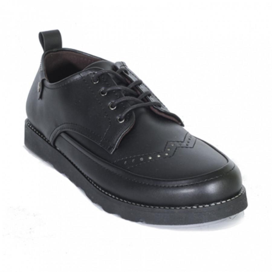 Lvnatica Sepatu Pria Pantofel Daxon Black Dress Shoes