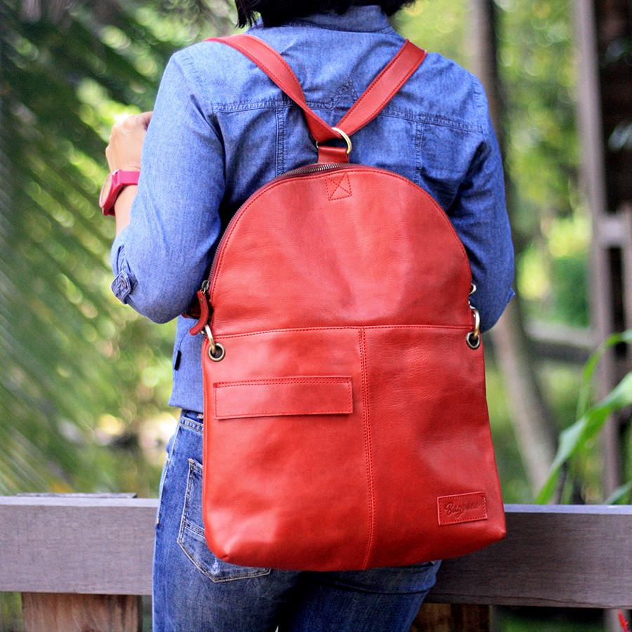 Turtle - Tas backpack kulit wanita