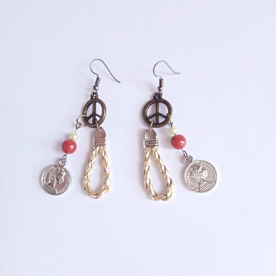 Peace 002 Earring Anting Handmade