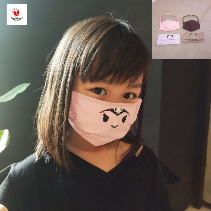 GESYAL Masker kain Anak Shield 2 ply. Nyaman digunakan dari katun