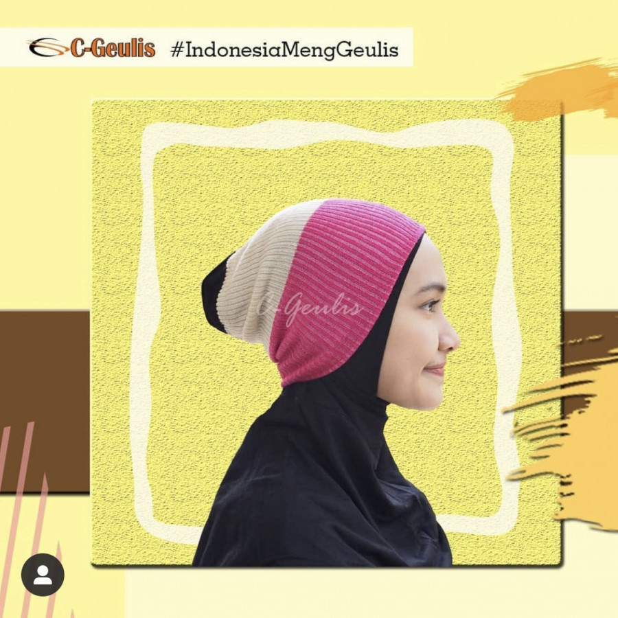 Ciput Bandana Two Tone C-Geulis (5 buah)
