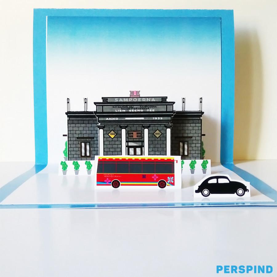Pop Up 3D Postcard House of Sampoerna Surabaya