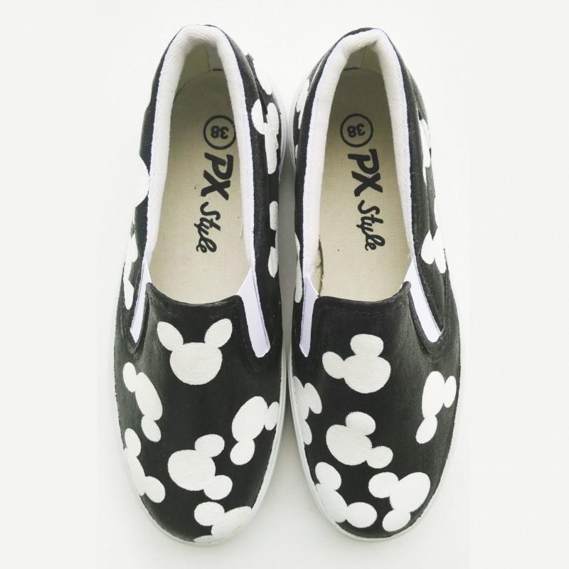Sepatu Lukis Mickey Mouse Pattern
