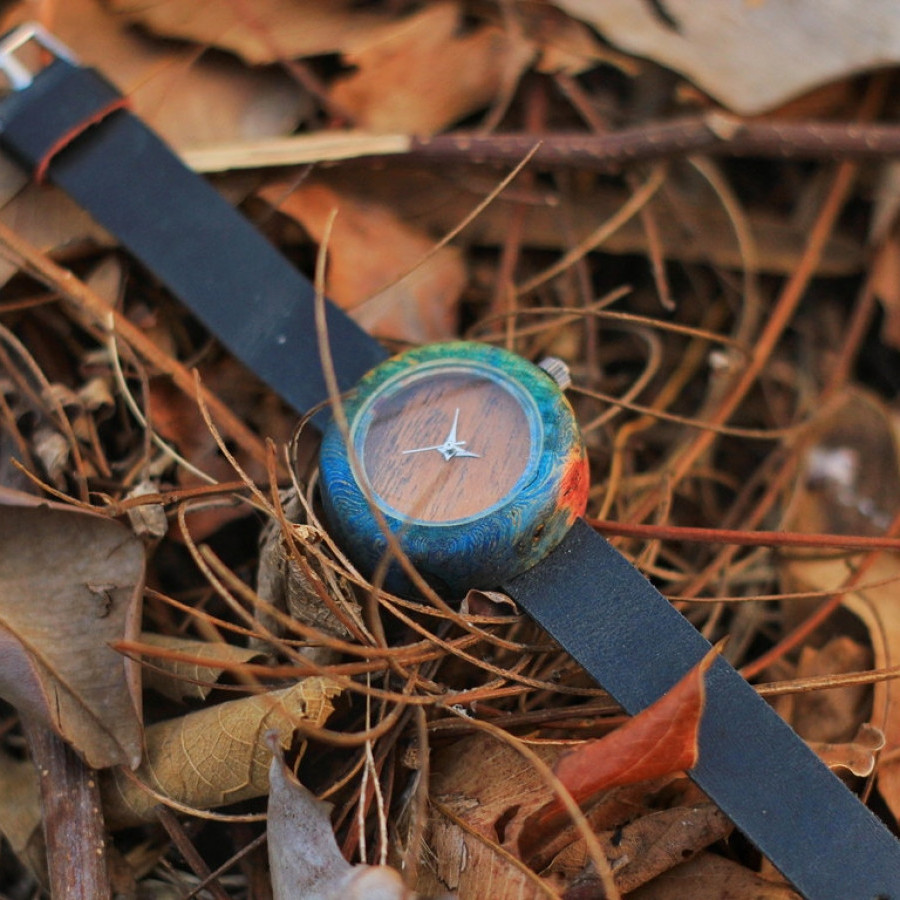 Stabwood watch jam tangan kayu burl ambyona