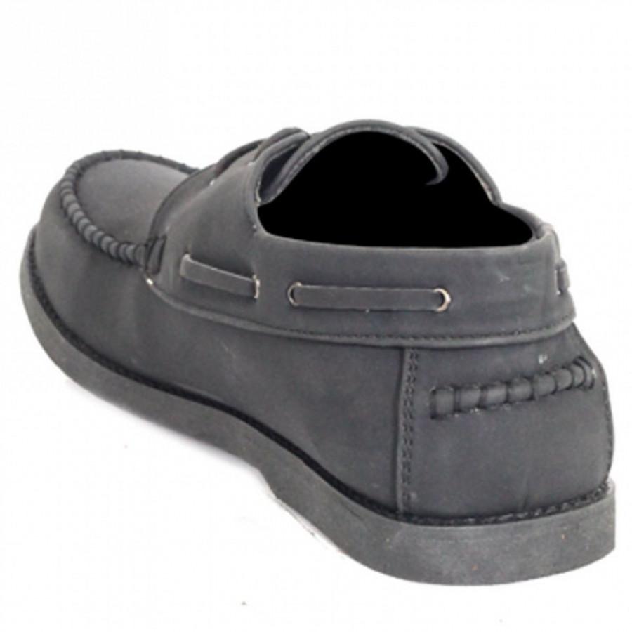 Lvnatica Sepatu Pria Pantofel Fico Black Formal Shoes