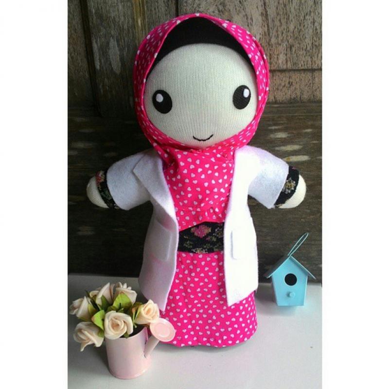 Boneka Kaos Kaki Seri Hijabers