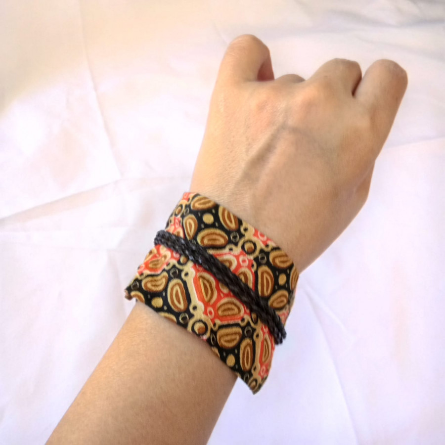 Gelang Batik Wanita Etnik GESYAL - Oren