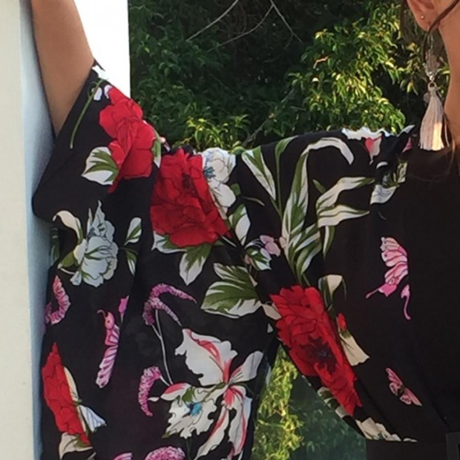 atasan kimono Rose