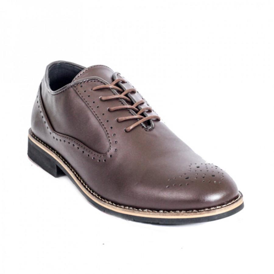 Lvnatica Sepatu Pria Pantofel Cerberus Brown Dress Shoes