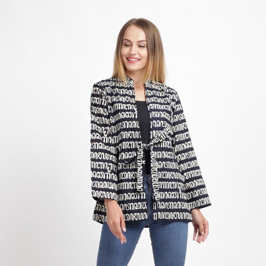 Batik Dirga Qianzy Outer Batik - Black White