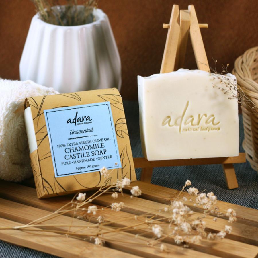 Adara Organic Handmade Chamomile Castile Soap - Unscented