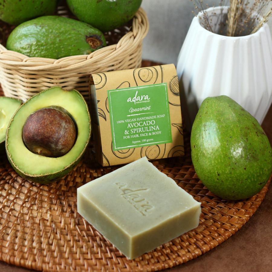 Adara Organic Handmade Avocado & Spirulina Soap - Spearmint