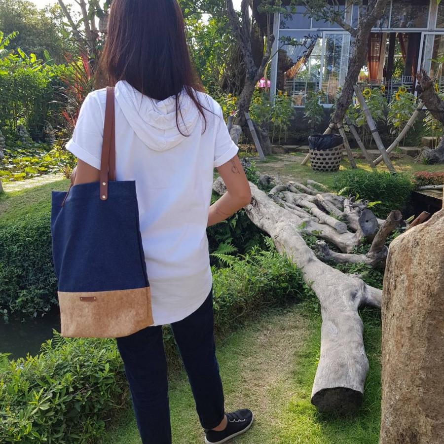 Tote bag / tote jeans / cork - LightenUp