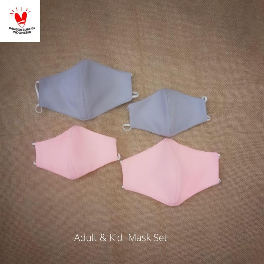 GESYAL Masker Kain Dewasa 2ply Set 5. Pola nyaman digunakan bikin betah memakai.Katun polos