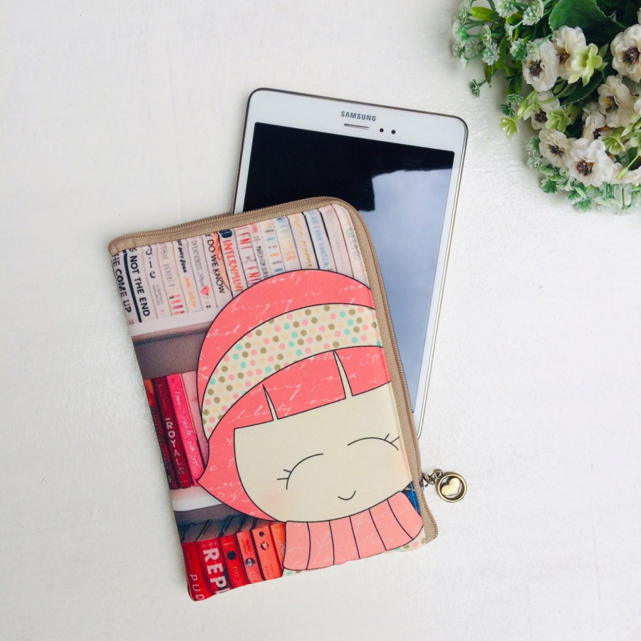 Ipad Gadget Tablet Cover Handmade Printing  Claire