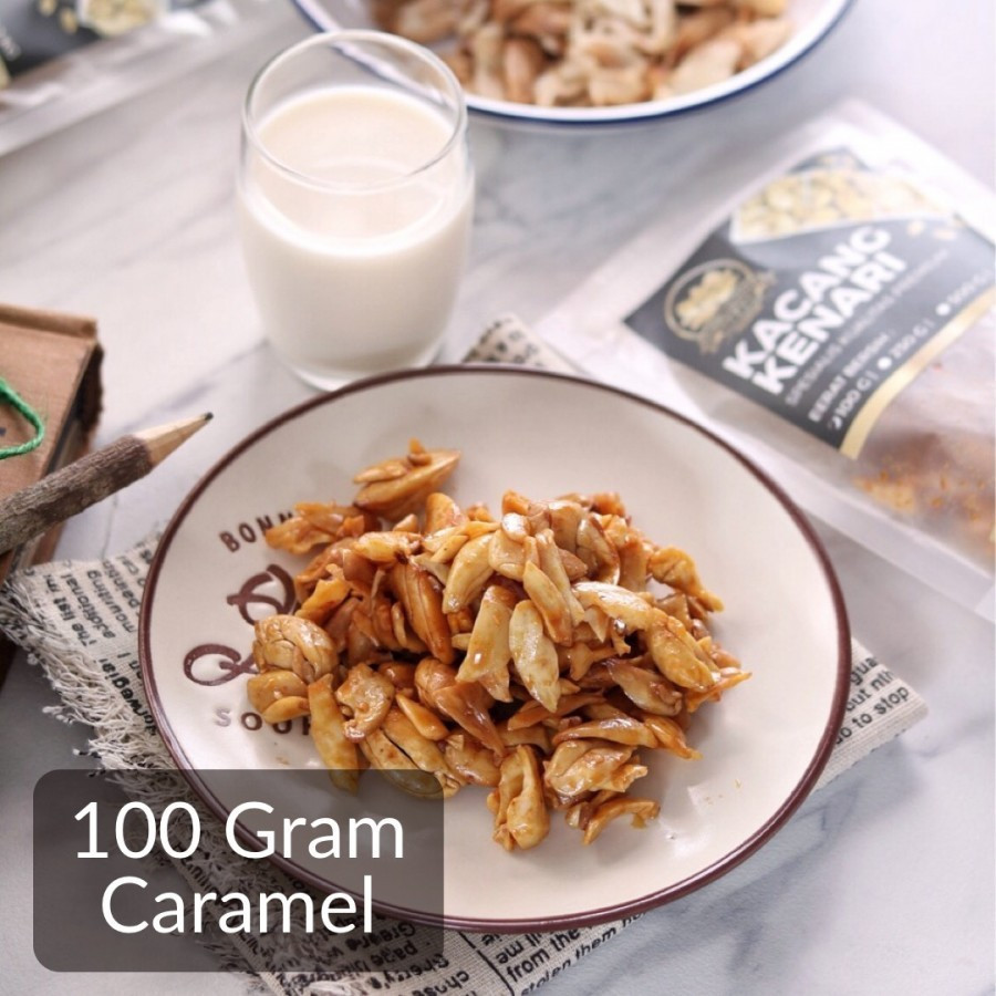 100 Gram Caramel Roasted Kenari Nuts