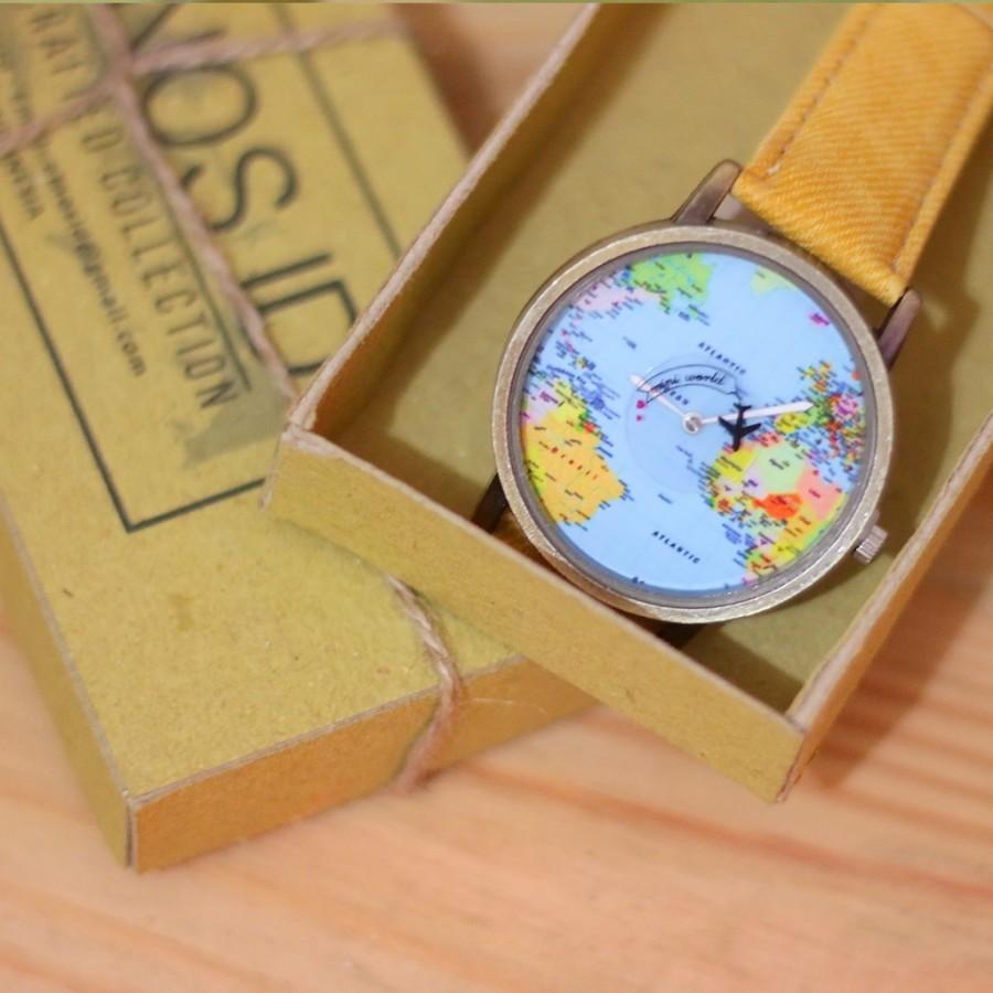 Etnos Mini World Map Watch