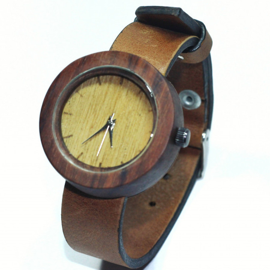Watchwooden leather straps