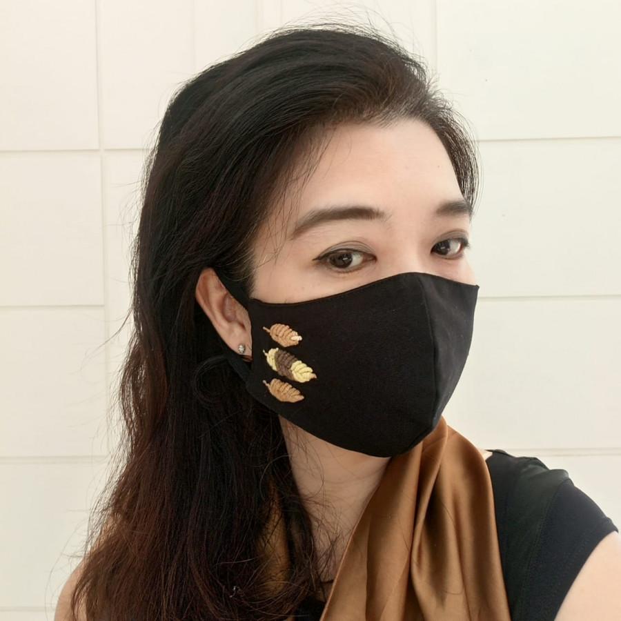 Masker Katun Rajut Mix 3D 3 Lapis 3 Ply  Set isi 4 Gesyal . Pola nyaman dipakai