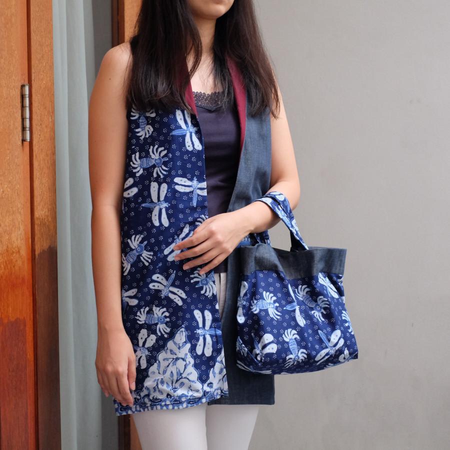 Wanda Bolero Batik - Maroon