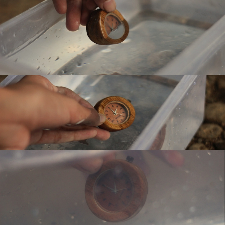 Jam tangan kayu water resist