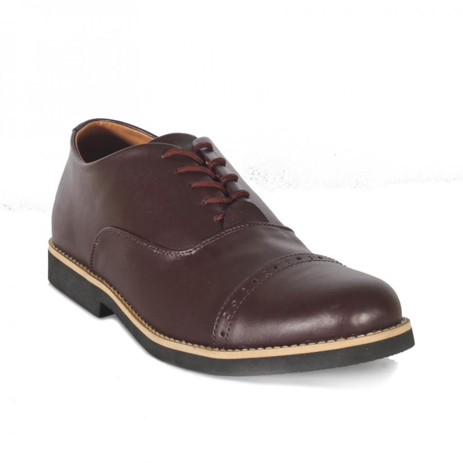 Flurry Brown | Zensa Footwear Sepatu Formal Pria Pantofel Shoes