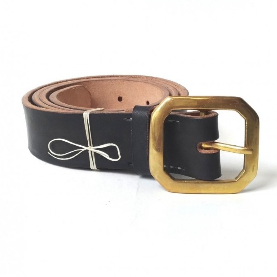 Holarocka Vegtan Leather Belt 02 - black ( Sabuk kulit )