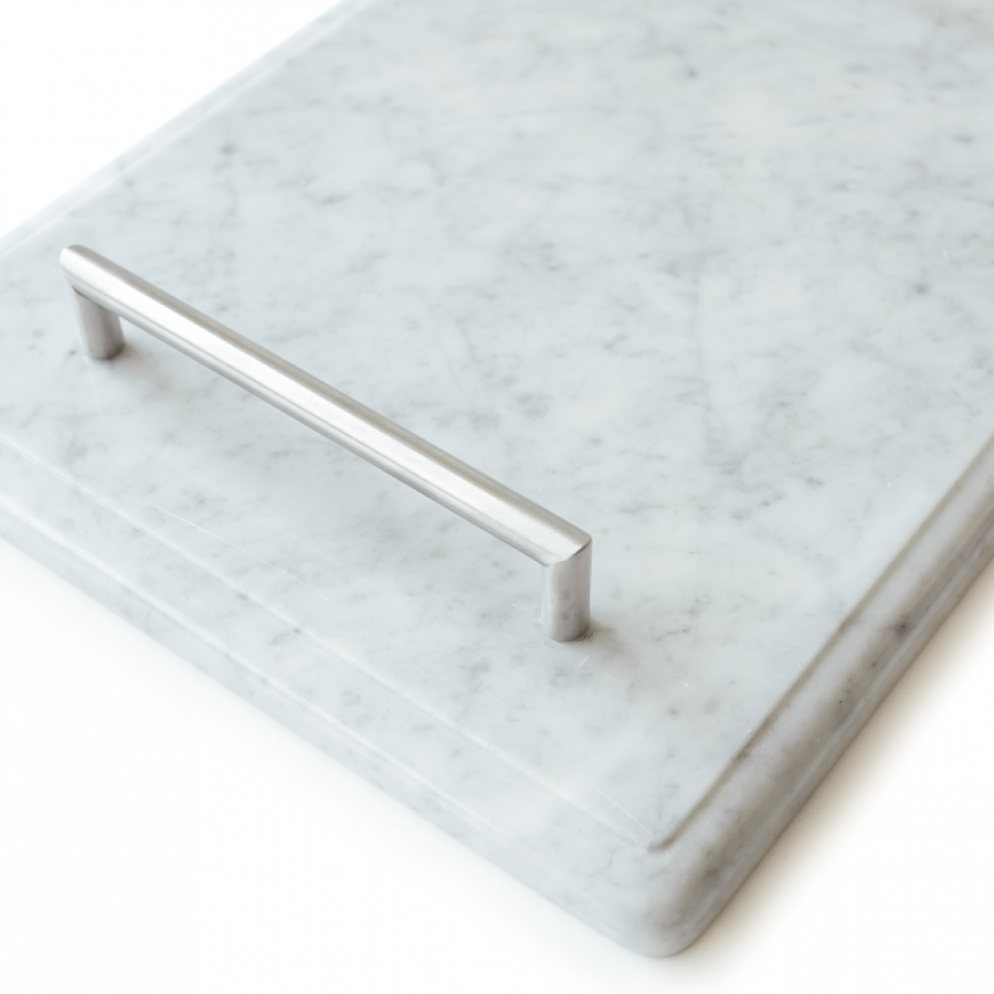 Serving Tray White Moonstone Marble 40 x 30