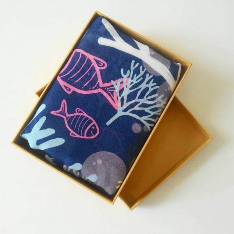 Scarf Coral Seri 3 Blue