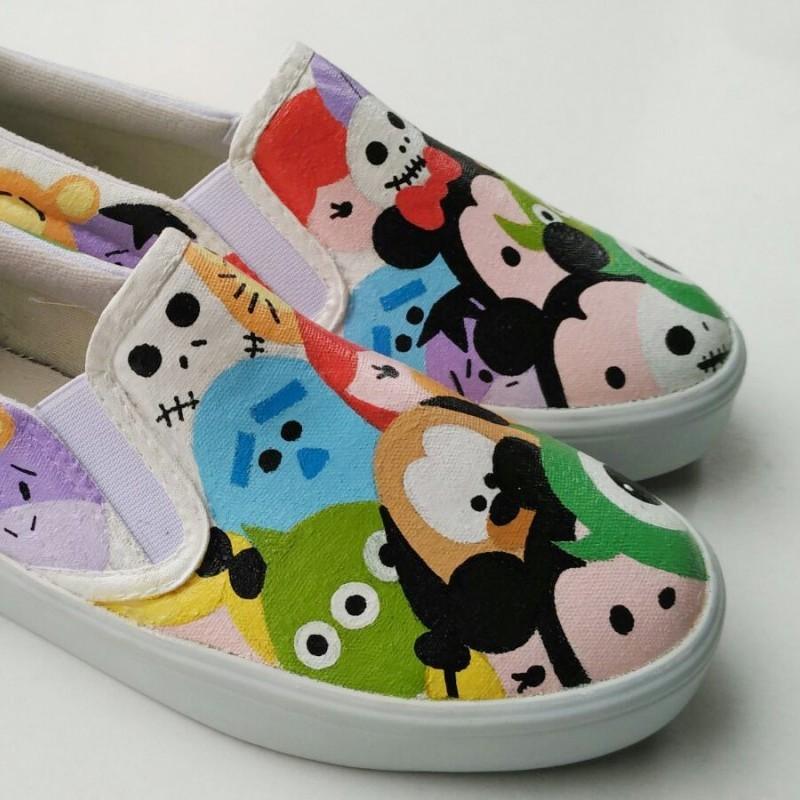 Sepatu Lukis Dewasa Disney Tsum Tsum