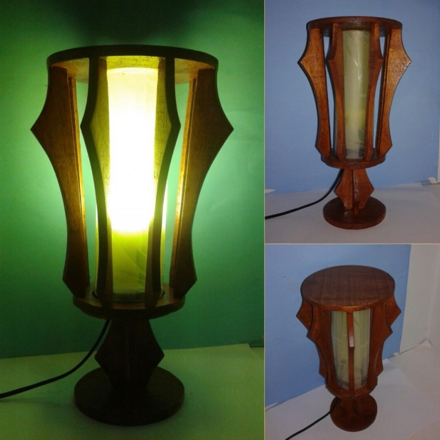 Lampu Tidur Hias / Lampu Meja / Lampu BULAT Warna PUTIH / Omah Lampu