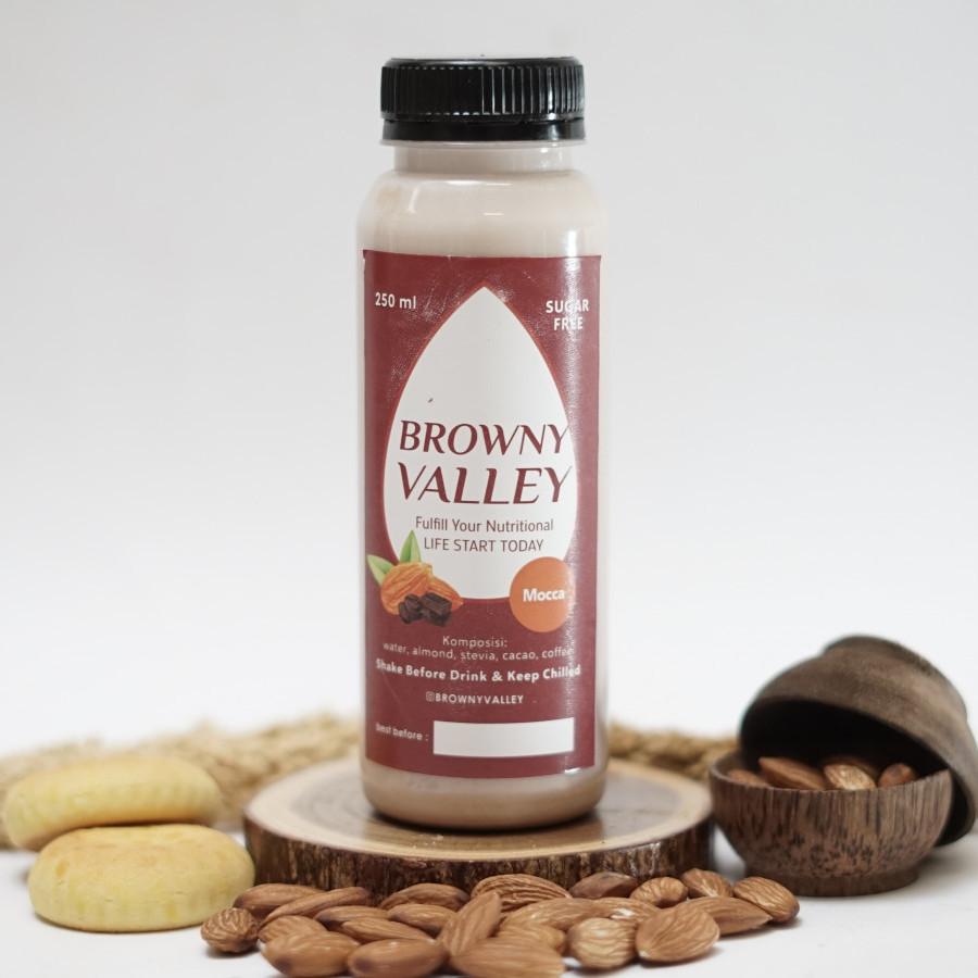 Susu almond rasa mocca