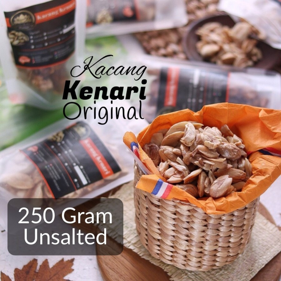250 Gram Unsalted Roasted Kenari Nuts