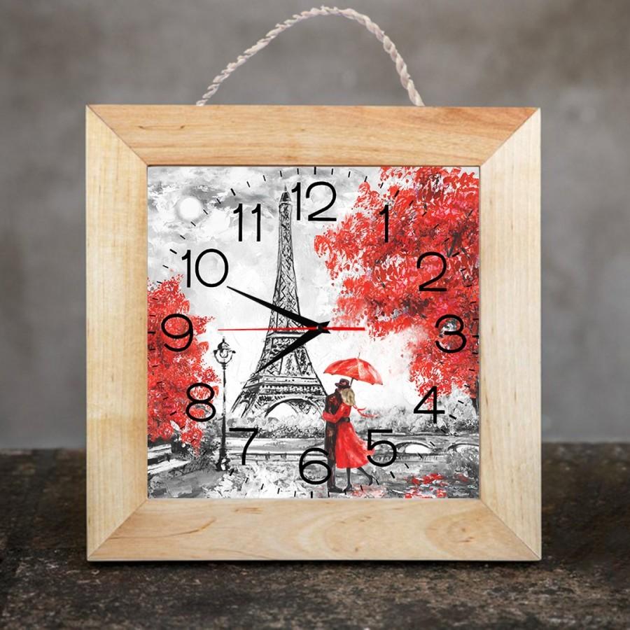 Jam Dinding Dekorasi Rumah/Kamar 25x25 cm Paris 02