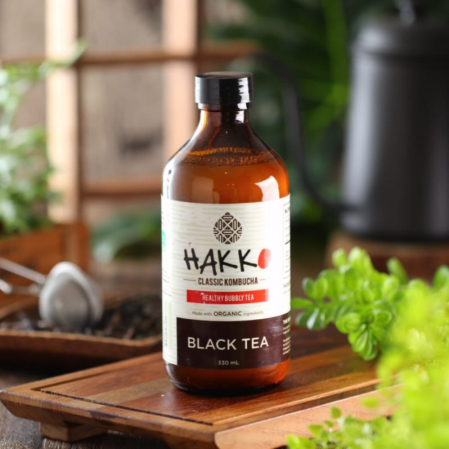 Hakko Kombucha Black Tea / Teh Hitam 330 mL