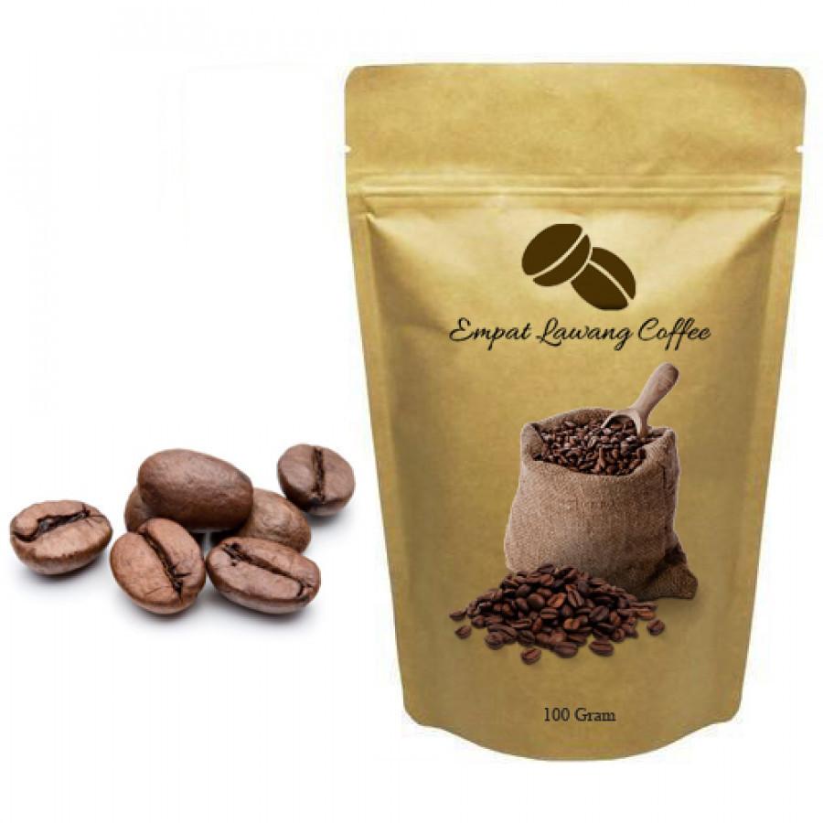 Kopi Robusta x Arabika Empat Lawang Roasted Bean 100 gram