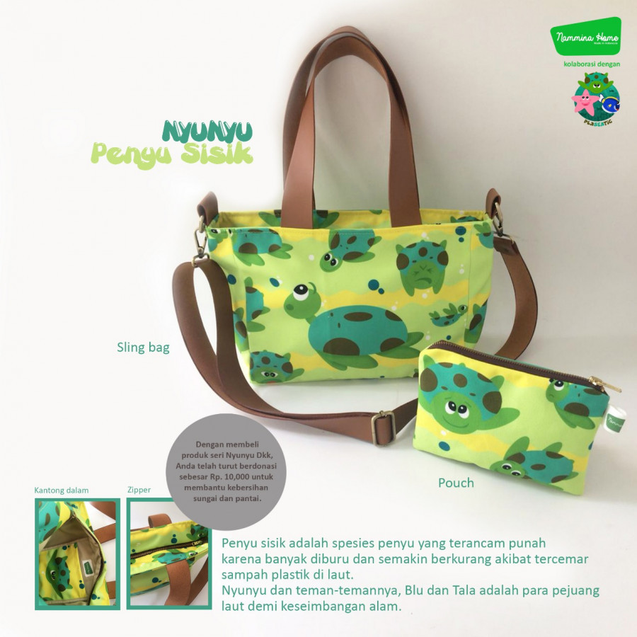 Sling Bag dan Pouch Nyunyu Yellow Nammina Home