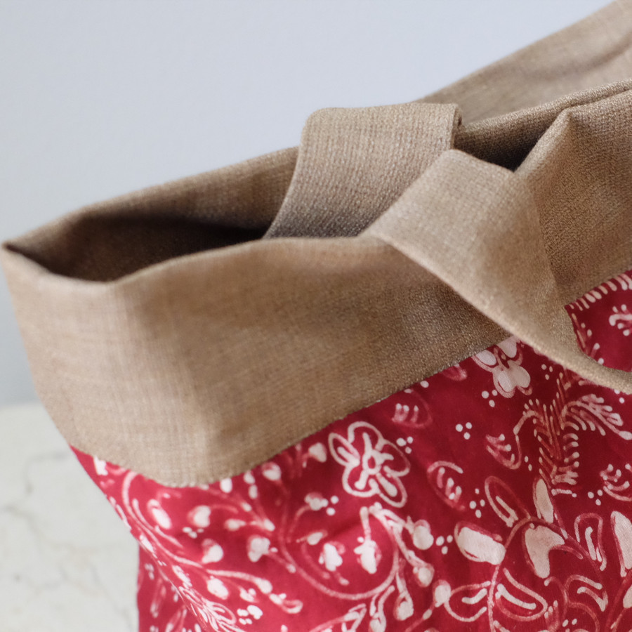 Batik Lasem Handbag - Maroon