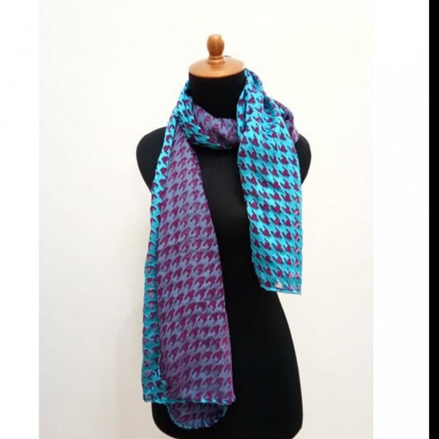 GESYAL Scarf Wanita - Blue sapphire Lavender