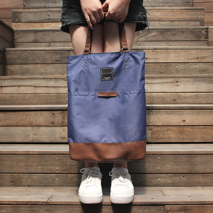 Tas Tote Bag Multifungsi Johnson [Arkitek] - Navy