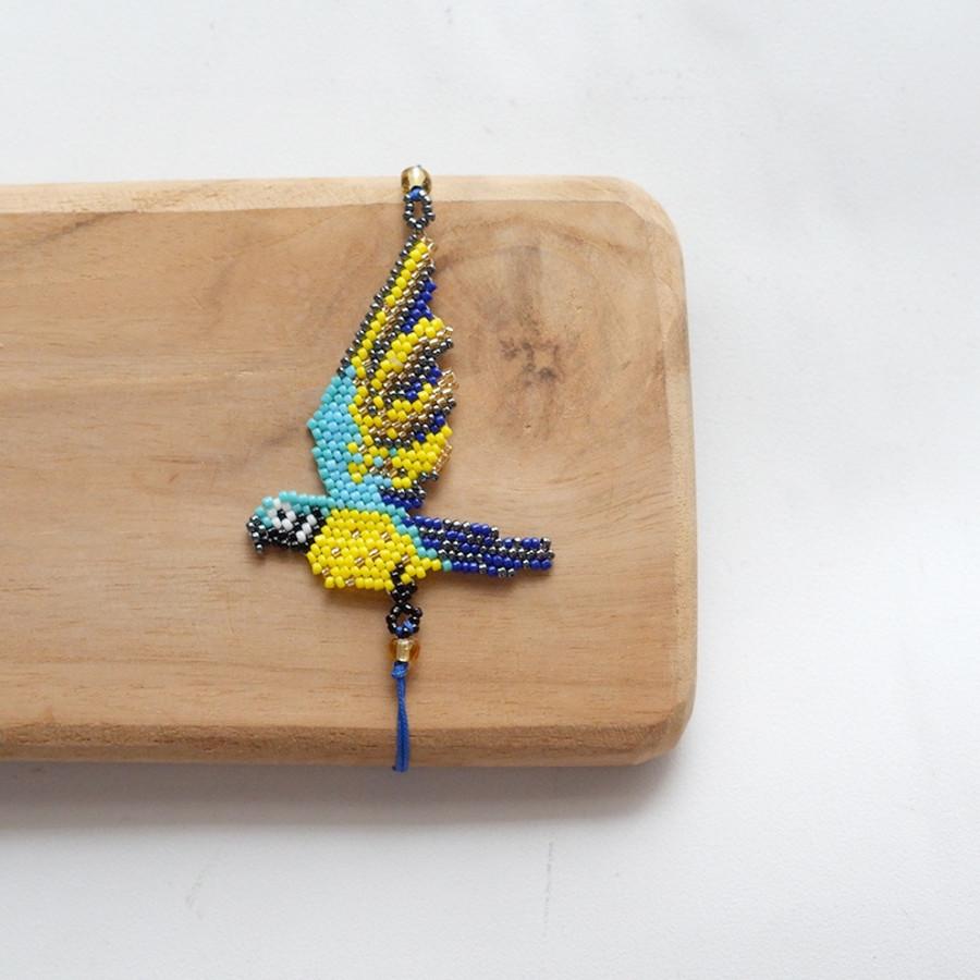 Gelang Manik - Macaw Bird Blue