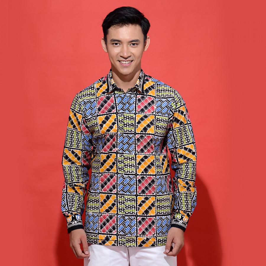Kemeja Batik Jingga Archipelago Texture