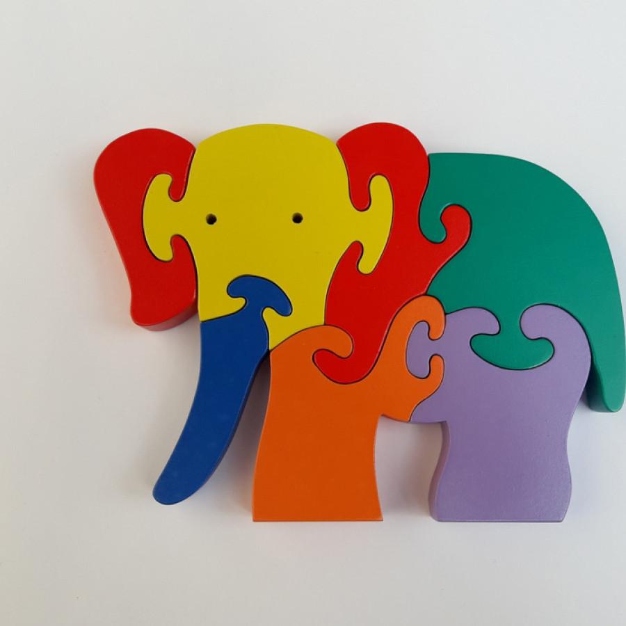 Puzzle Gajah 3 Dimensi