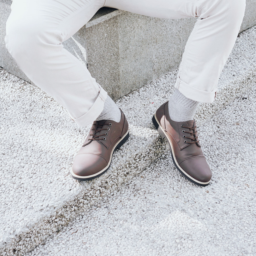 Ganfal Brown | Zensa Footwear Sepatu Formal Pria Pantofel Shoes