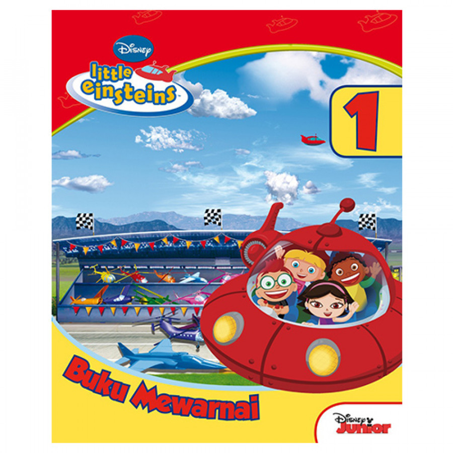 Erlangga For Kids - Little Einsteins: Buku Mewarnai Jilid.1 # - 2003700130