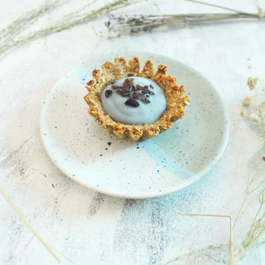Healthy Vegan Blue Pea Tart